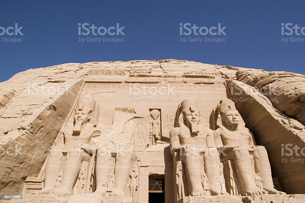 Abu Simbel templo foto de stock libre de derechos