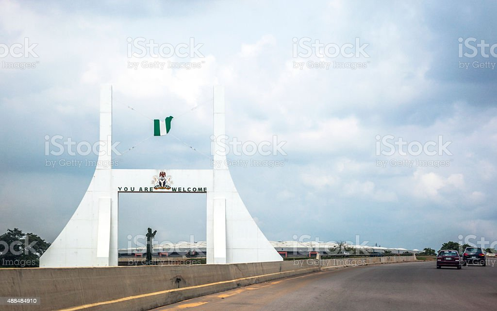 Abuja City Gate, Nigeria. stock photo