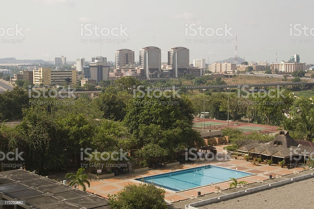 Abuja luxury hotel stock photo