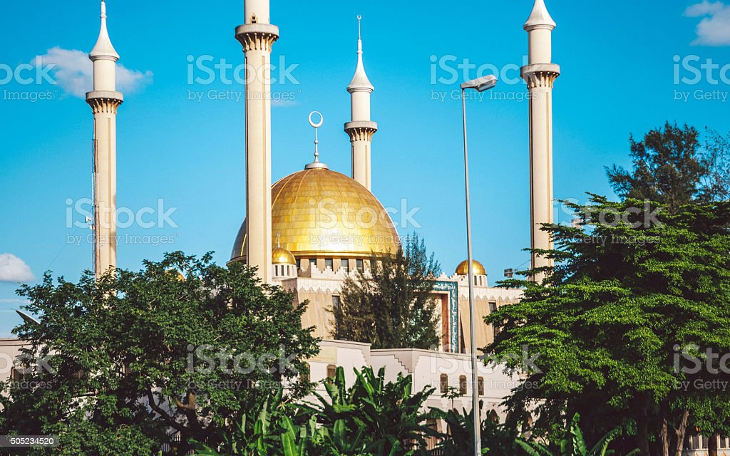 Abuja National Mosque, Nigeria. stock photo
