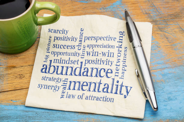 abundance mentality word cloud - abundance stock pictures, royalty-free photos & images