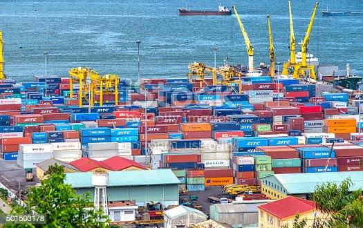 istock Abundance of Danang harbor 501503178