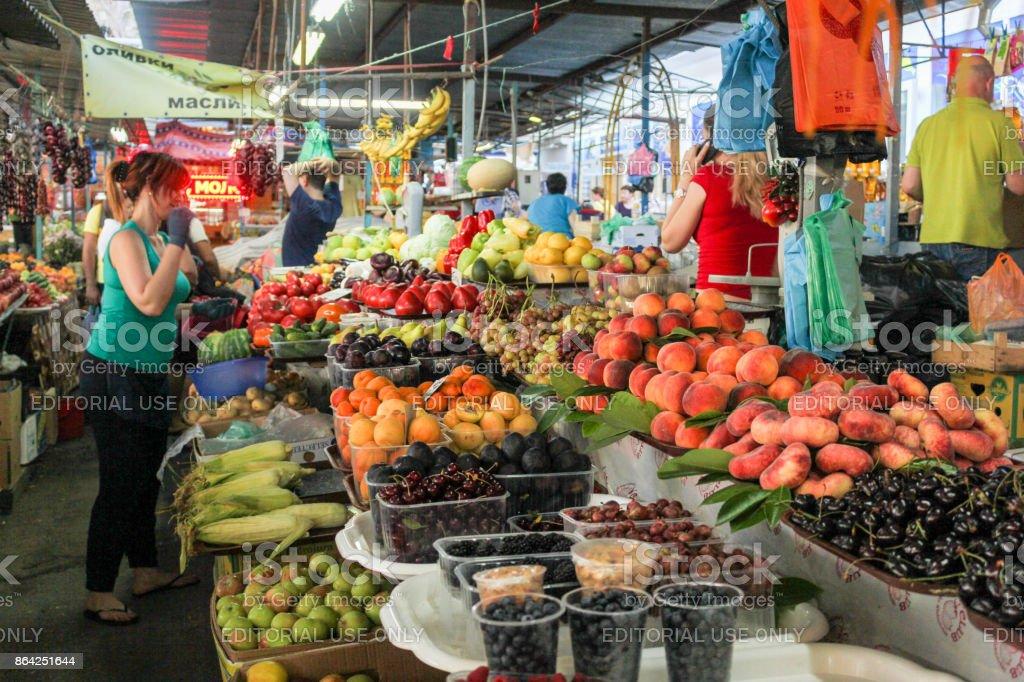 Abundance on the market counters. royalty-free stock photo
