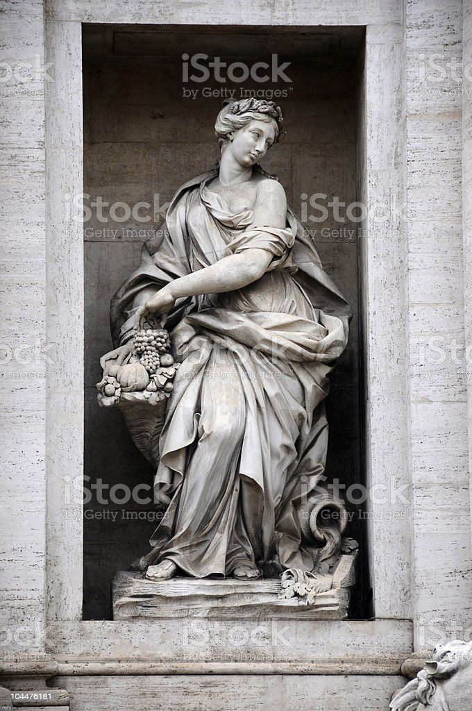 Abundance, Trevi Fontain royalty-free stock photo
