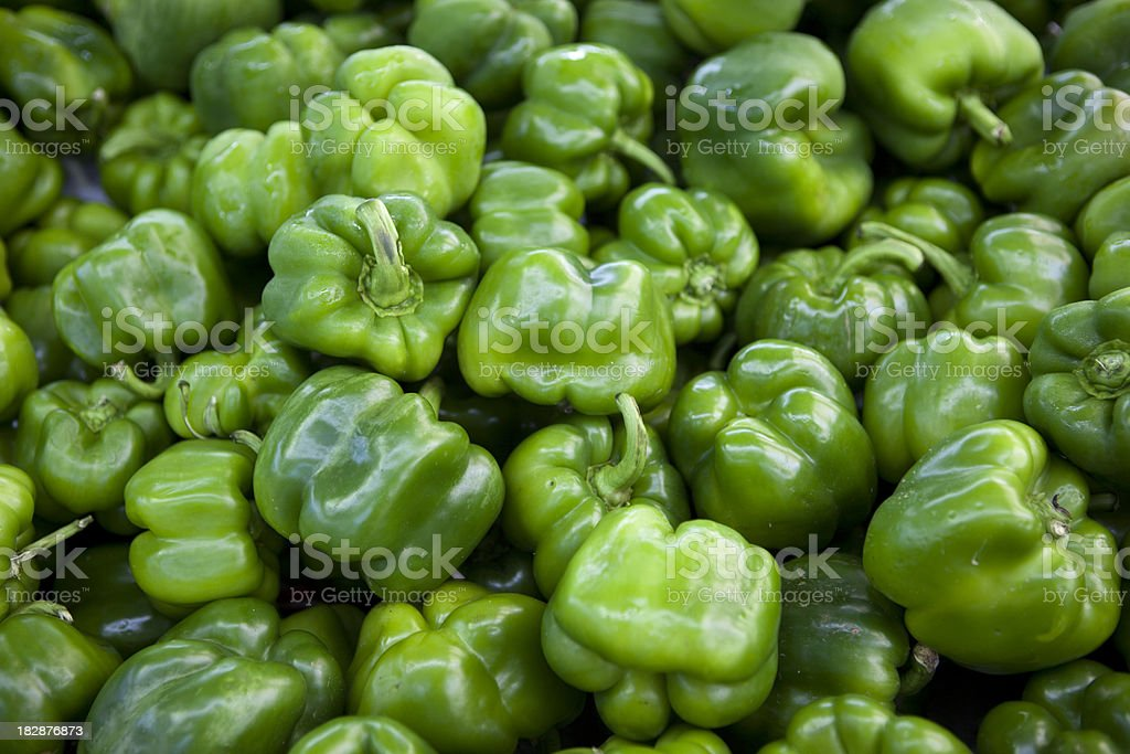 Abundant fresh produce at a farmers market stock photo