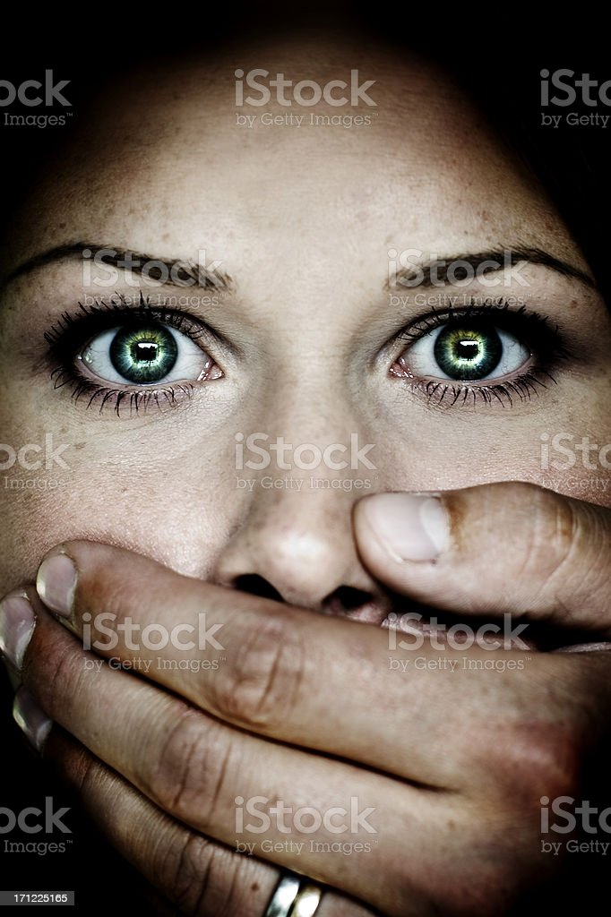 Abuse royalty-free stock photo