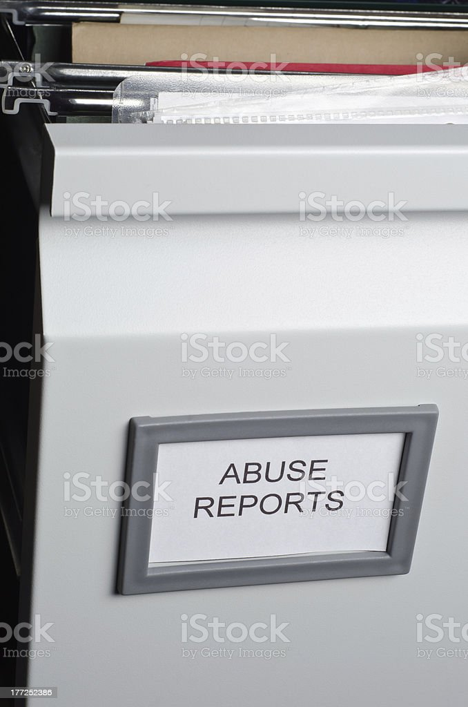 Abuse Reports Filed royalty-free stock photo