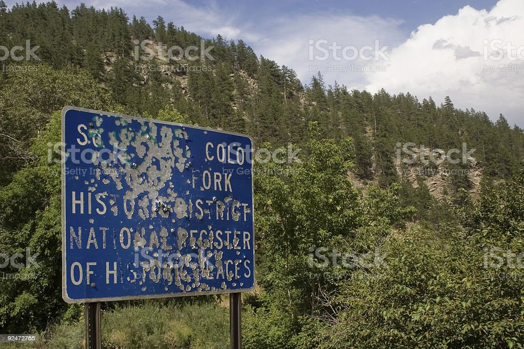 Abused Public Sign 1 royalty-free stock photo