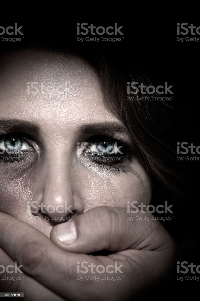 Abused woman. stock photo