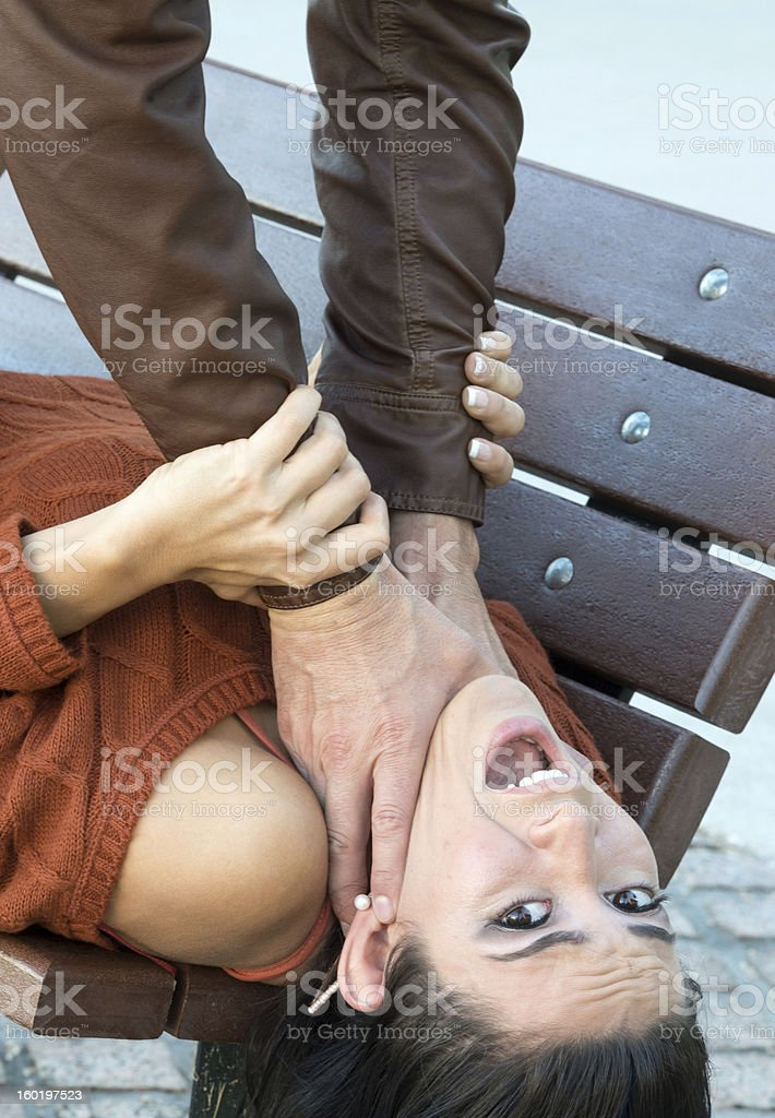 Abused young woman stock photo