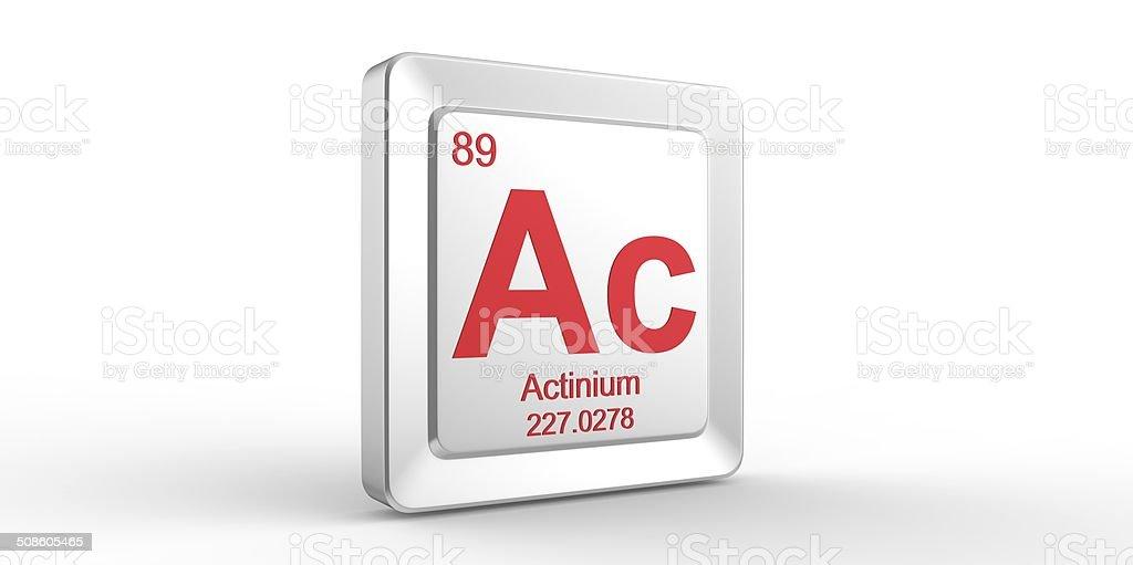 Ac Symbol 89 Material For Actinium Chemical Element Stock Photo