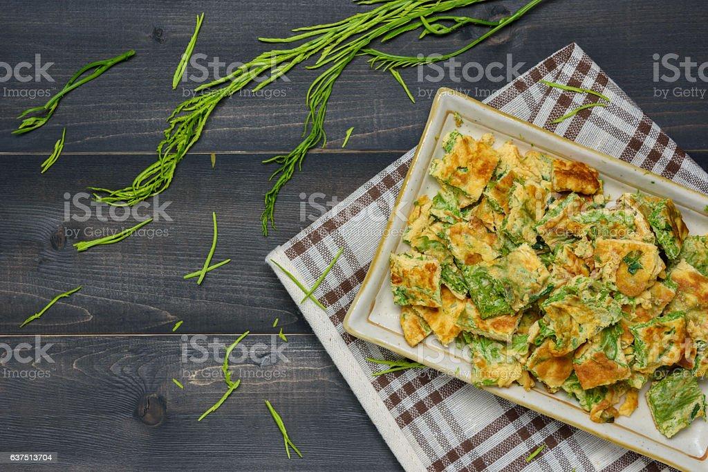 Acacia Pennata Omelette stock photo