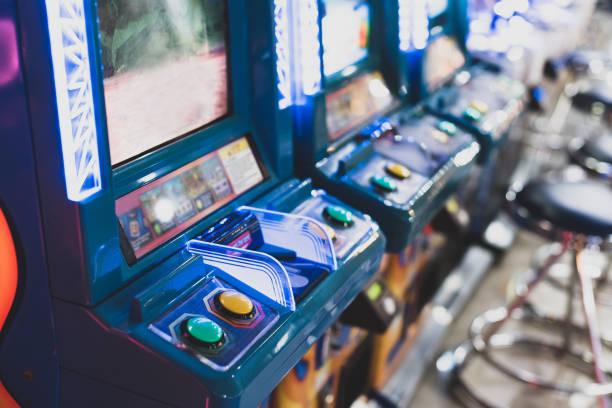 acade spiel, arcade-maschine. - arkade stock-fotos und bilder