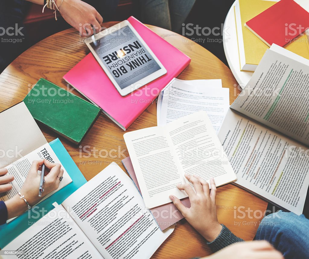 Academic Archive Library Information Knowledge Concept stock photo