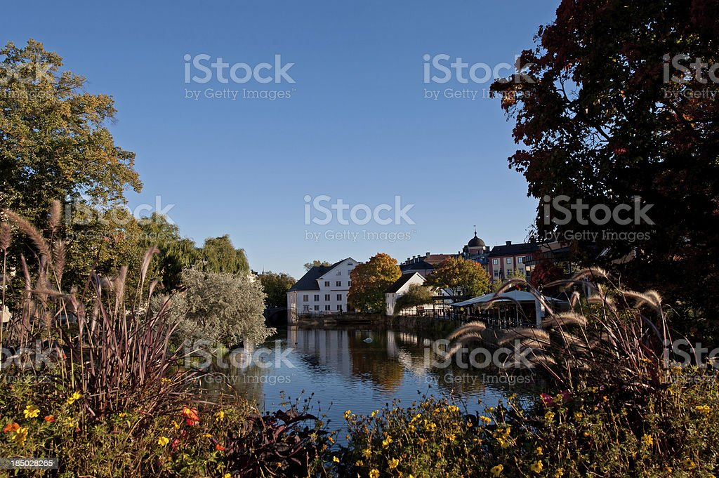 Academy Mill or 'Bishops House' in autumn colors stock photo