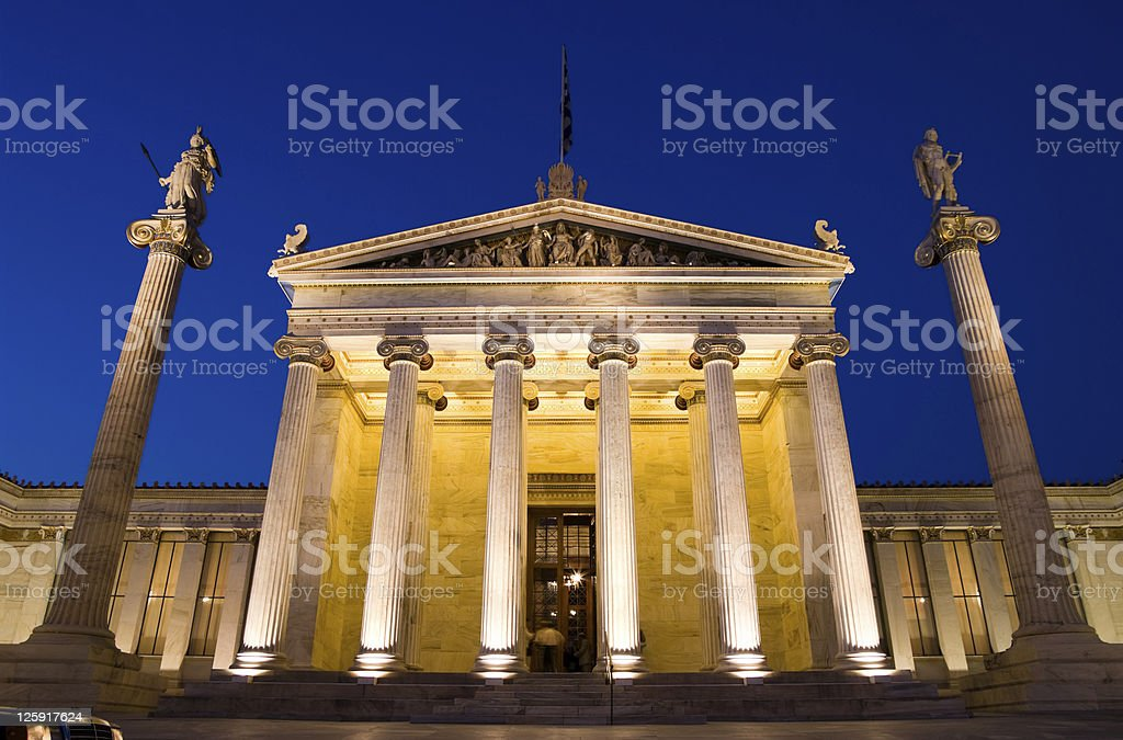Academy Of Athens By Night royalty-free stock photo