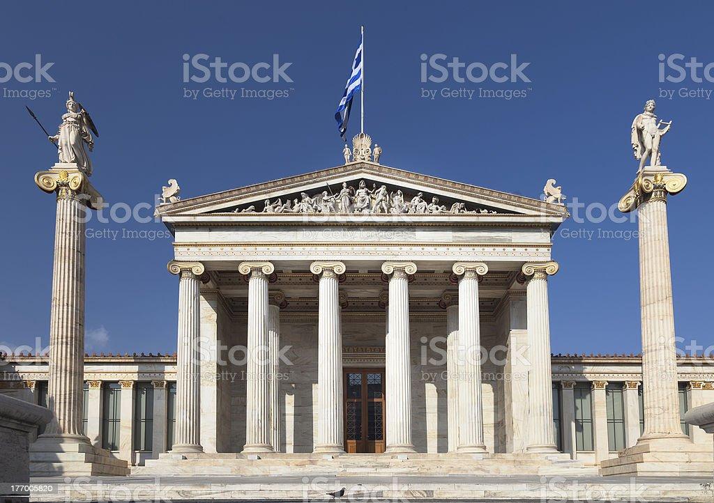 Academy of Athens (Greece) stock photo