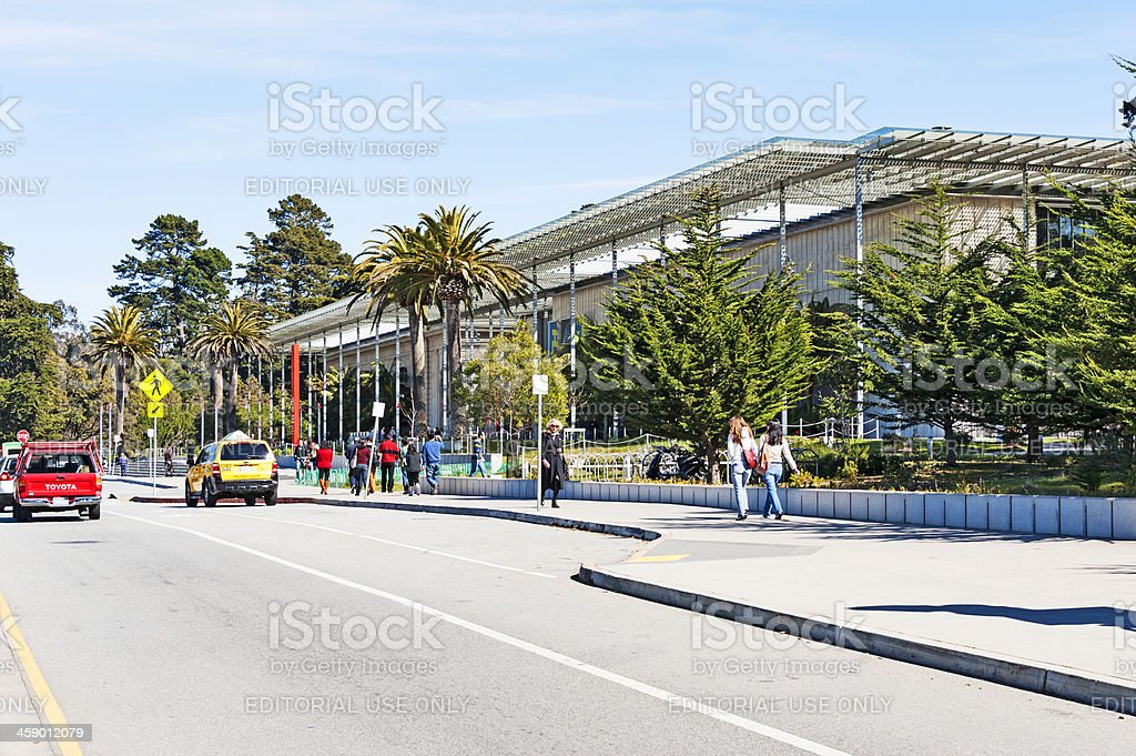 Academy of Science Golden Gate Park stock photo