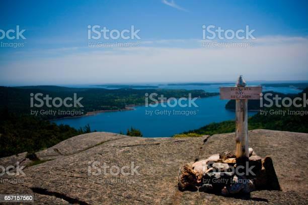 Photo of Acadia Mountain Summit Marker