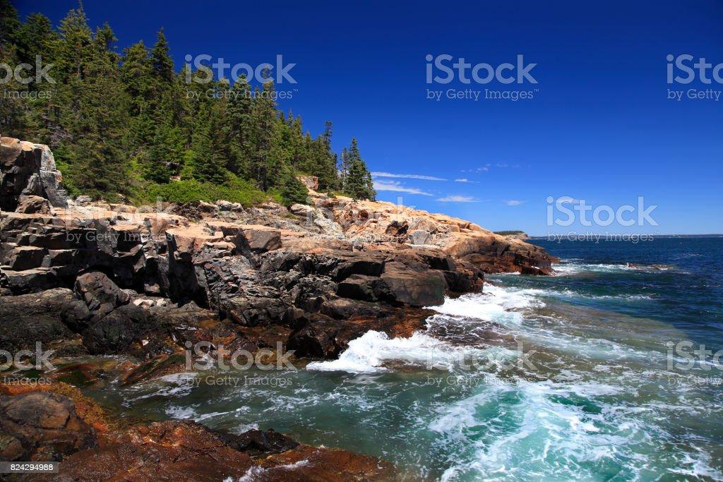Acadia National Park, Atlantic Ocean ridge, USA stock photo
