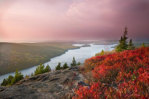Acadia National Park - Beach Mountain Trail - Autumn