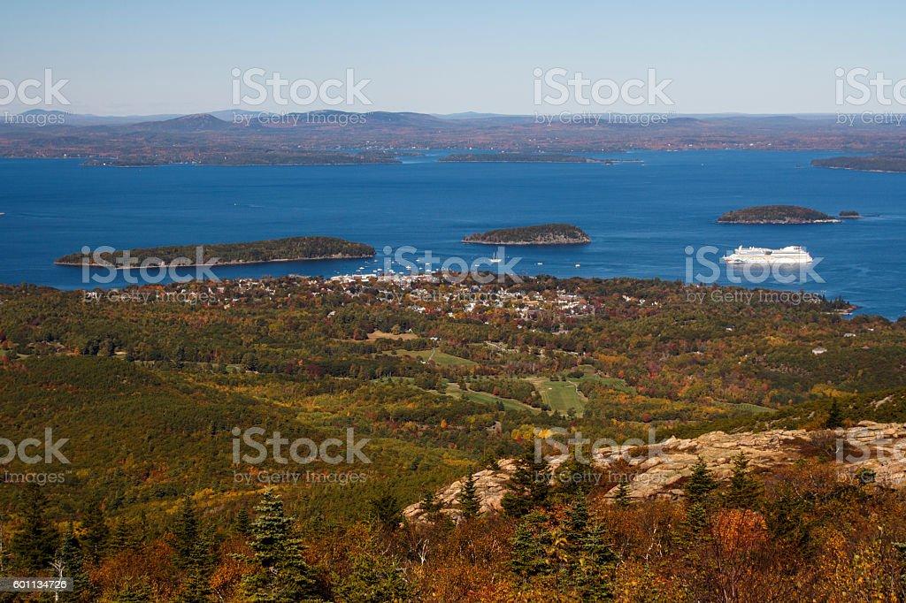 Acadia National Park in Bar Harbor, USA, 2015 stock photo