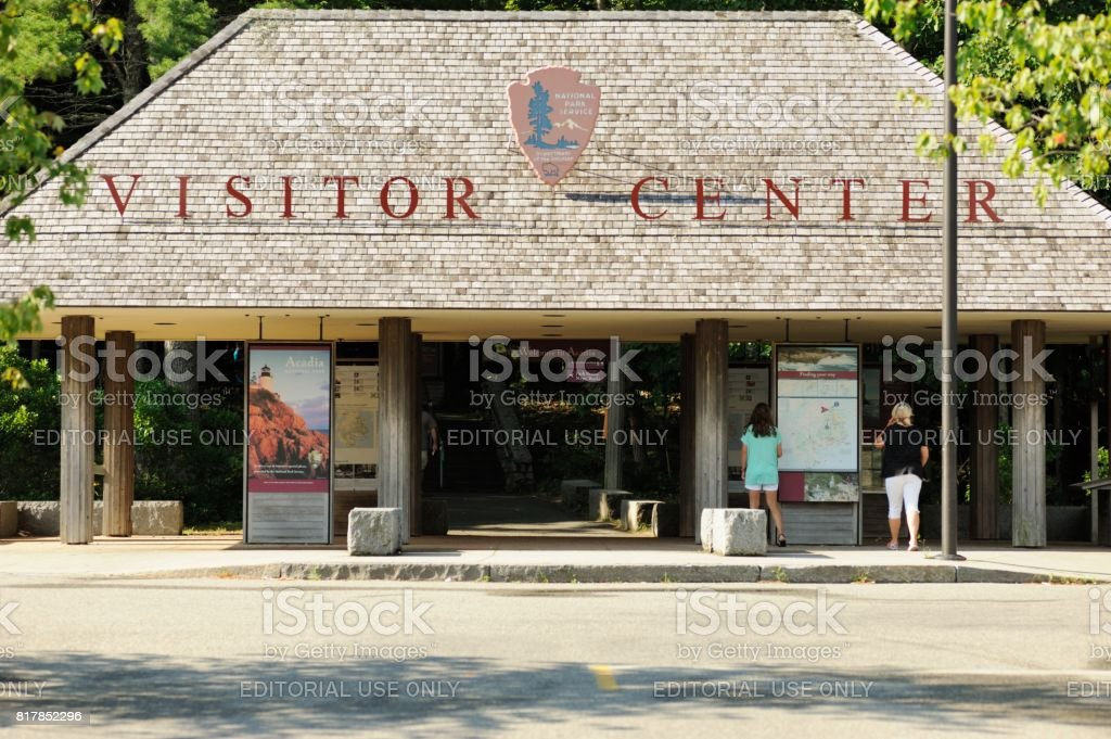 Acadia National Park Visitor Center stock photo
