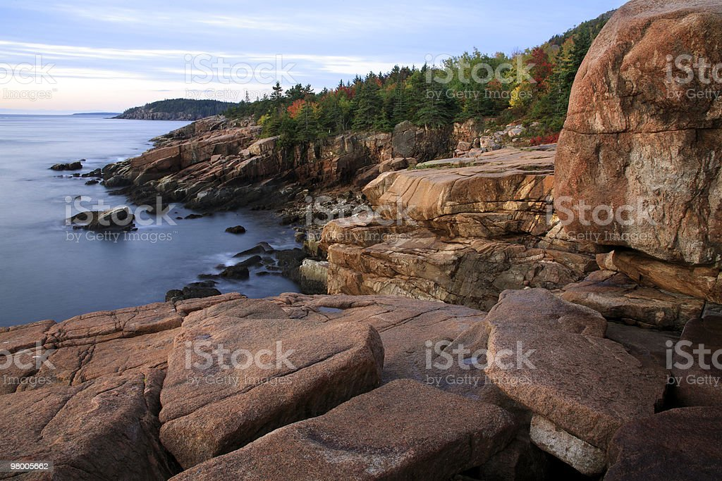 Acadia Seacoast At Sunrise royalty free stockfoto