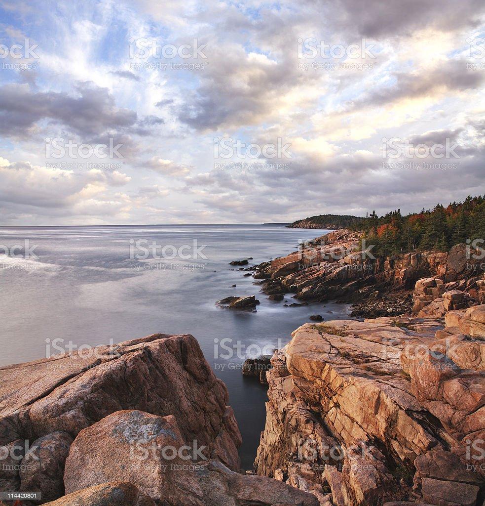 Acadia Seacoast Morning stock photo