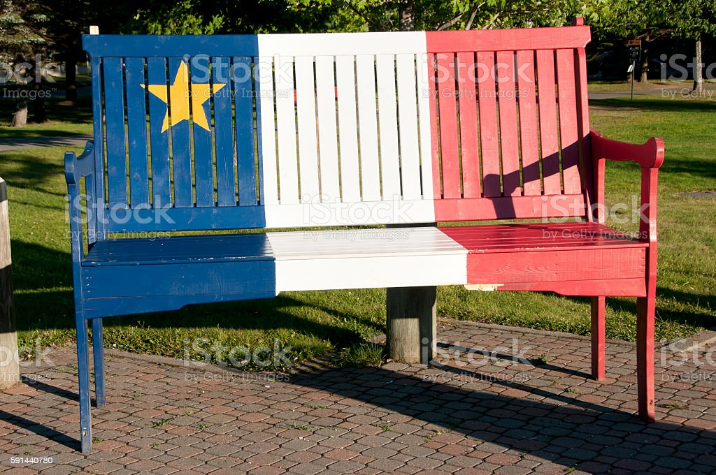 Groovy Acadian Colors On Wood Bench Edmundston New Brunswick Unemploymentrelief Wooden Chair Designs For Living Room Unemploymentrelieforg