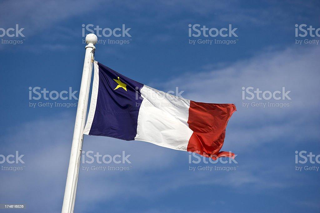 Acadian flag stock photo