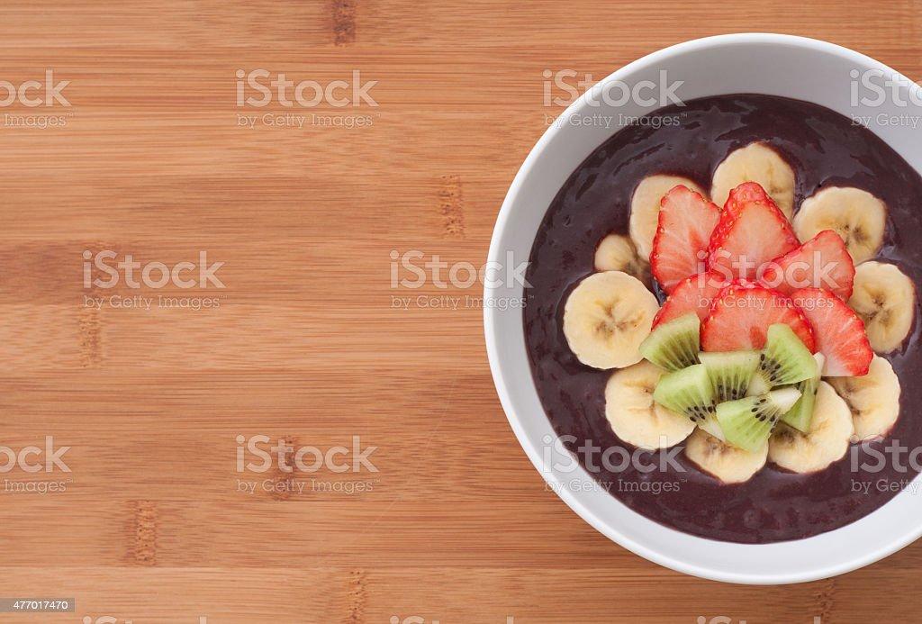 Acai bowl stock photo