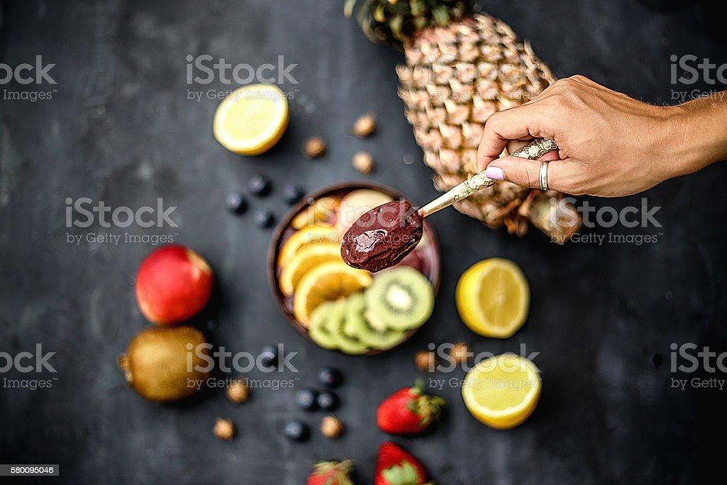 Acai bowl stock photo