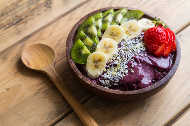acai bowl - bowl stock pictures, royalty-free photos & images
