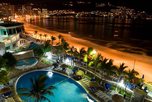 Acapulco at Nights stock photo