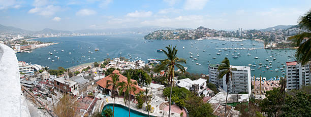 Acapulco Bay from Casa Blanca stock photo