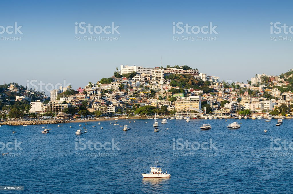 acapulco bay stock photo