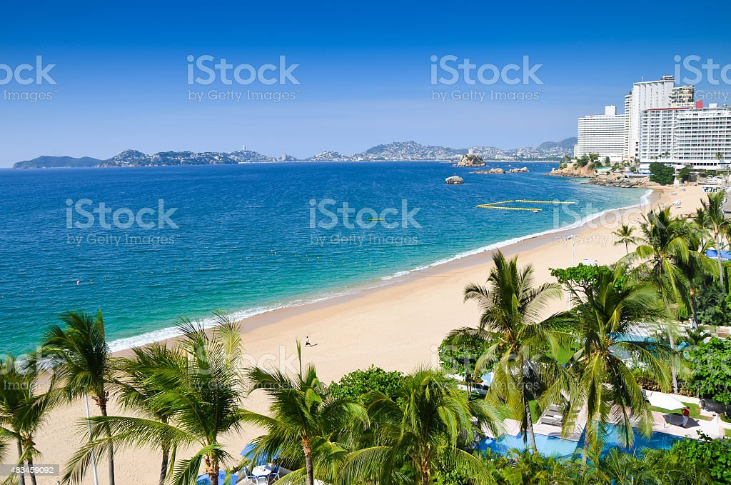 Acapulco beach stock photo