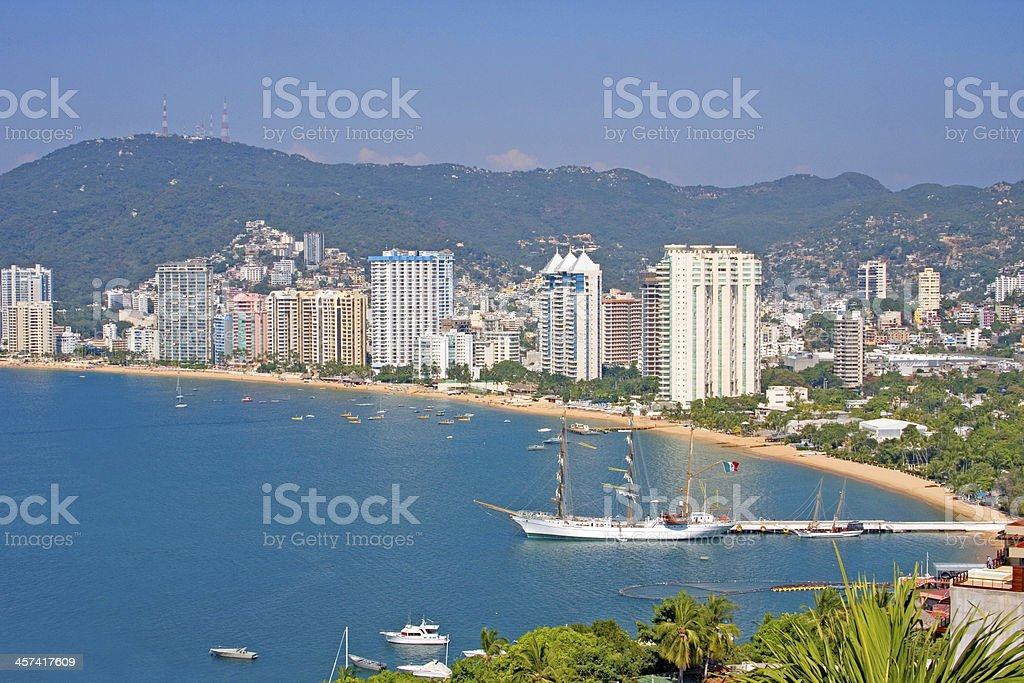 Acapulco beachfront, Mexico stock photo