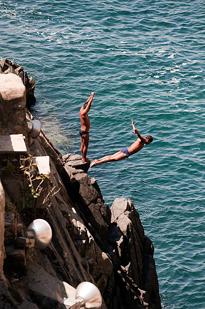 Acapulco cliff divers stock photo