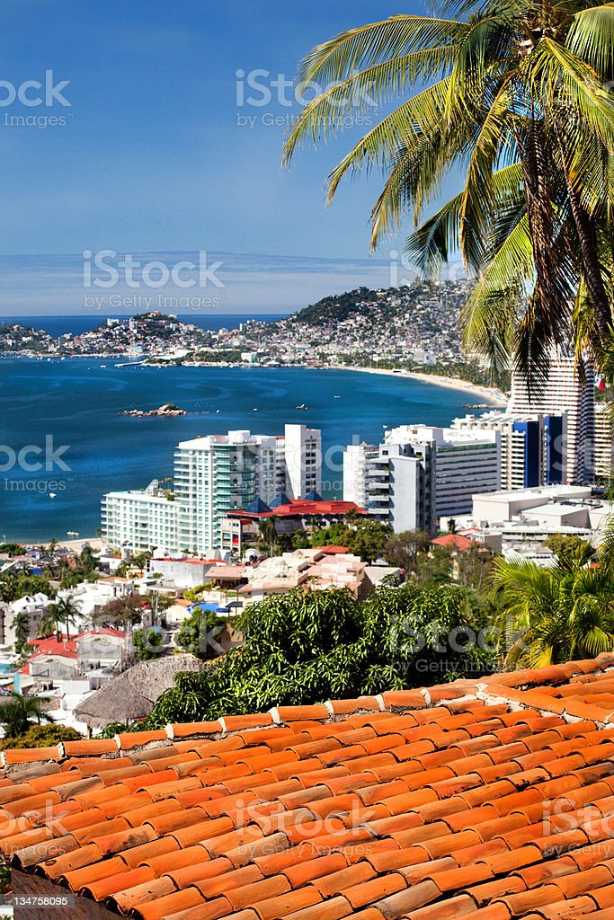 acapulco mexico cityscape stock photo
