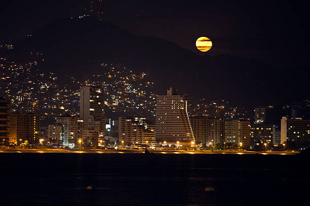 Acapulco Moonrise stock photo