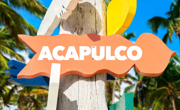Acapulco sign stock photo