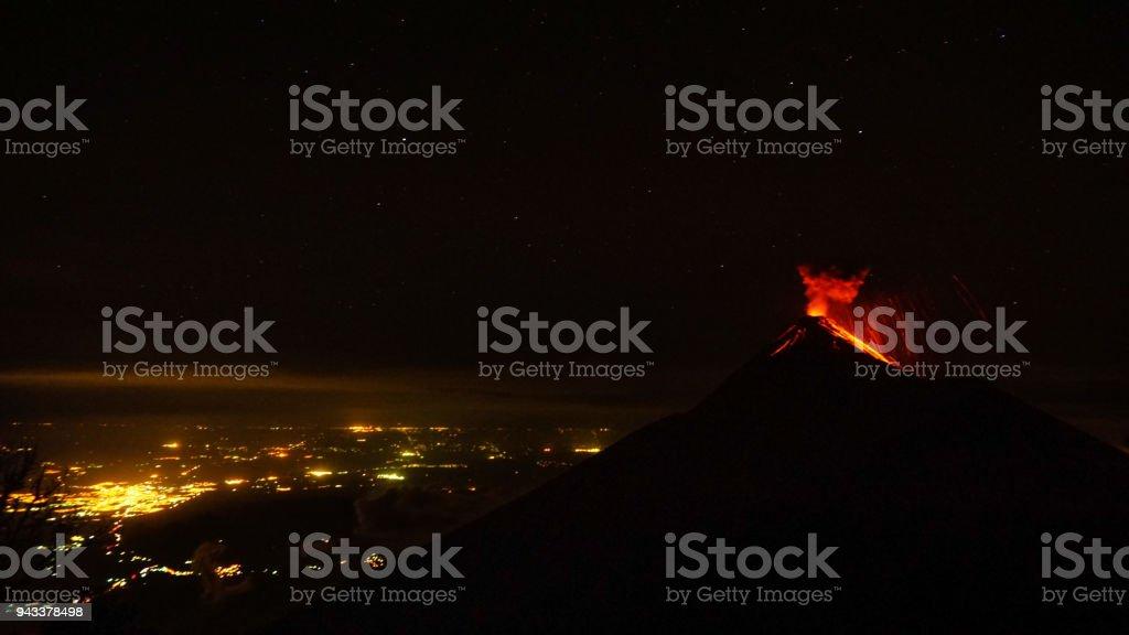 Volcan Acatenango au Guatemala - Photo