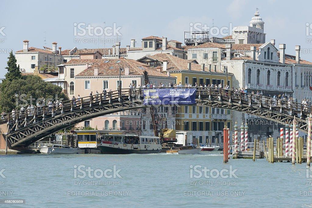 Accademia bridge stock photo