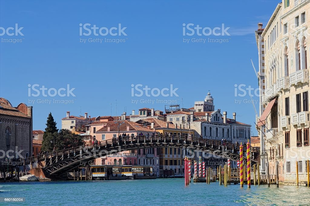 Accademia Bridge (Venice) stock photo