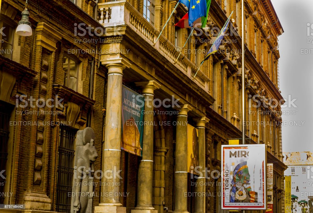 Accademia delle Scienze and Egyptian Museum in Turin (Piedmont, Italy) stock photo