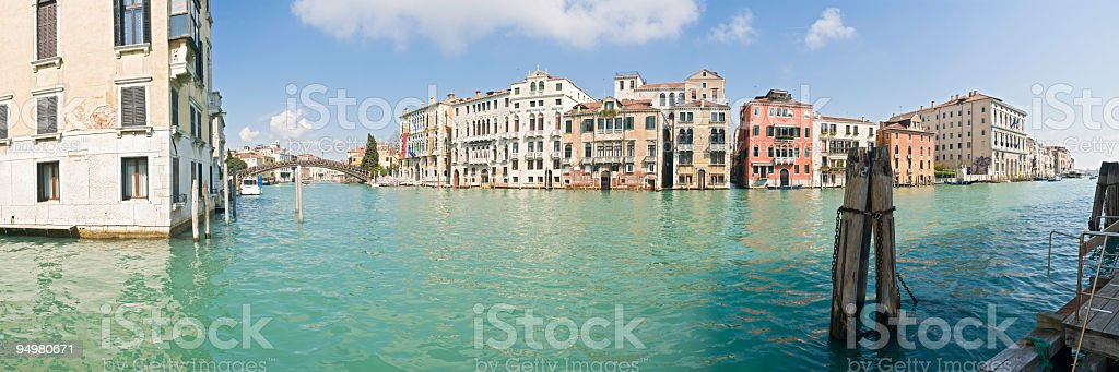 Accademia Grand Canal Venice royalty-free stock photo