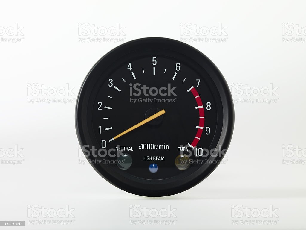 Accelerating Dashboard royalty-free stock photo
