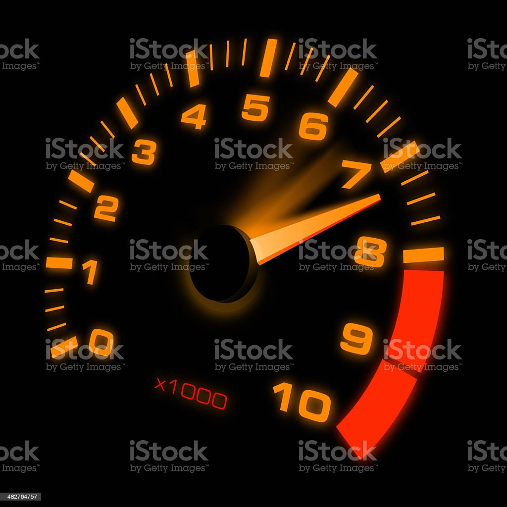 Accelerating Dashboard stock photo